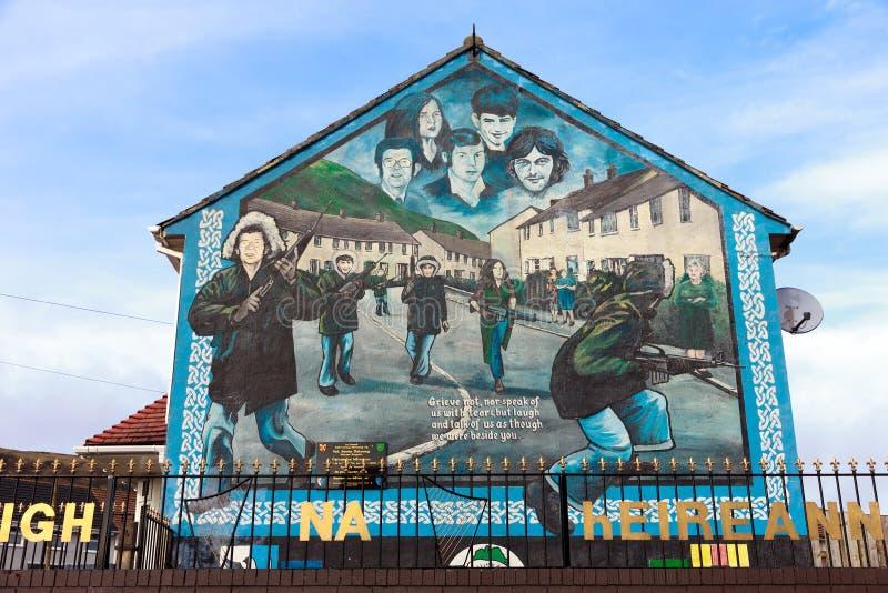 Belfast mural photo stock