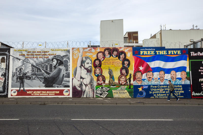 Peace Wall, Belfast, Northern Ireland Editorial Image - Image of
