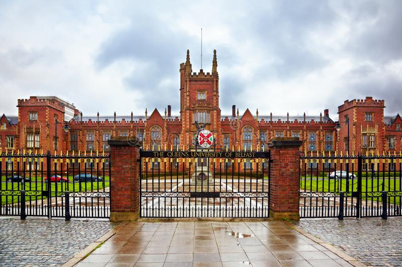 Queen`s University of Belfast stock photography