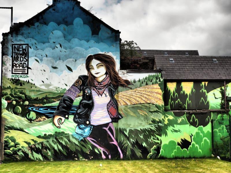 The Belfast Peace Wall Murals 2018 stock photos