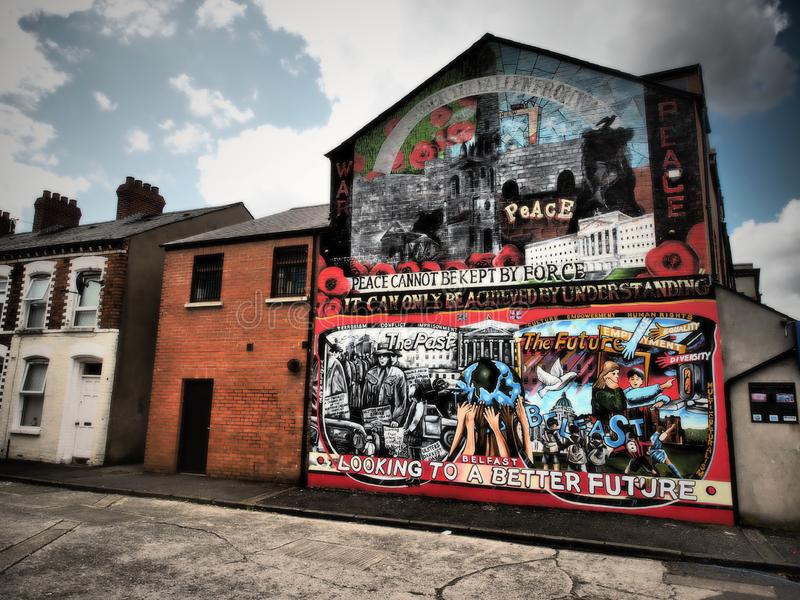 The Belfast Peace Wall Murals 2018 stock photography
