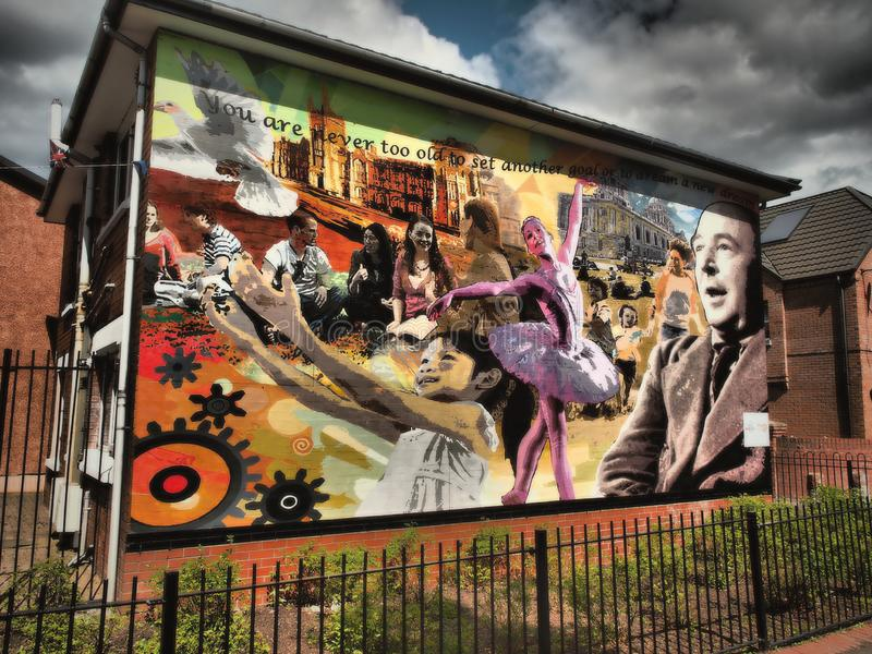 The Belfast Peace Wall Murals 2018 royalty free stock images