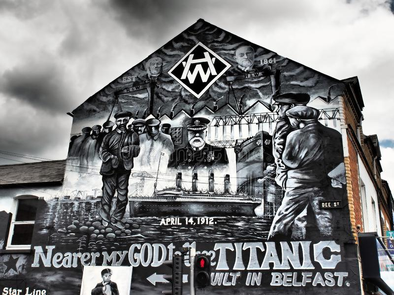 The Belfast Peace Wall Murals 2018 royalty free stock image