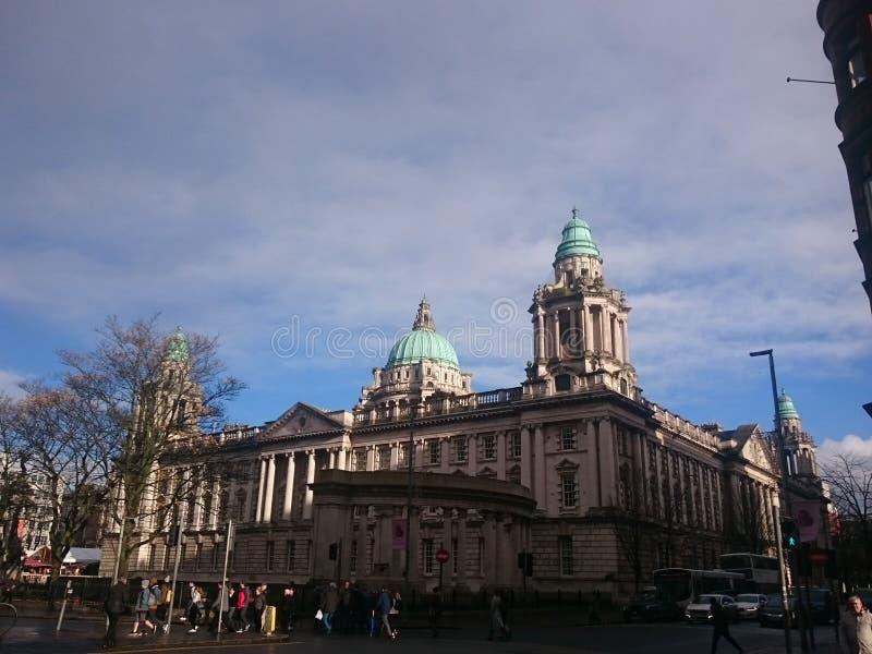 Belfast-Stadt Hall Northern Ireland lizenzfreie stockfotografie