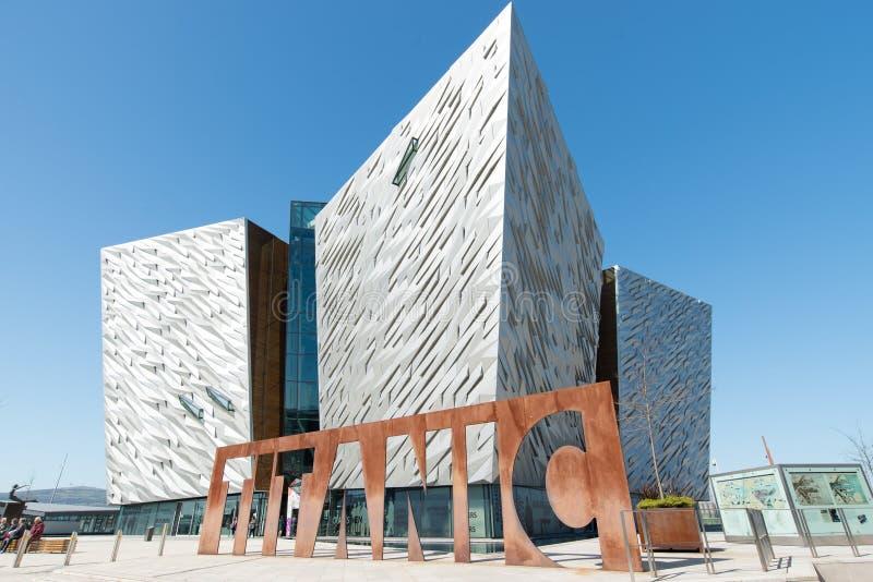 Belfast Titanic memorial museum royalty free stock photo