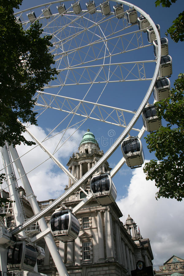 The Belfast Wheel royalty free stock photos