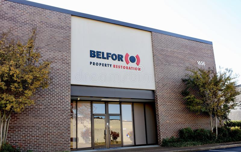 Belfor Property Restoration Company, Memphis, TN. BELFOR USA Group Inc., doing business as BELFOR Property Restoration, provides integrated disaster recovery and royalty free stock photos