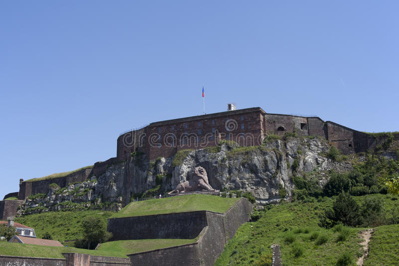 Belfort. Le Lion de Belfort, France royalty free stock photography