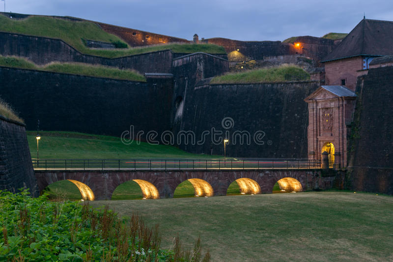 Belfort, France. View of the old citadelle of Belfort, France stock photo