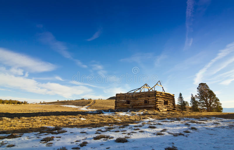 Belfort Old West Cabin. Old West Cabin in Winter at Belfort, California stock image