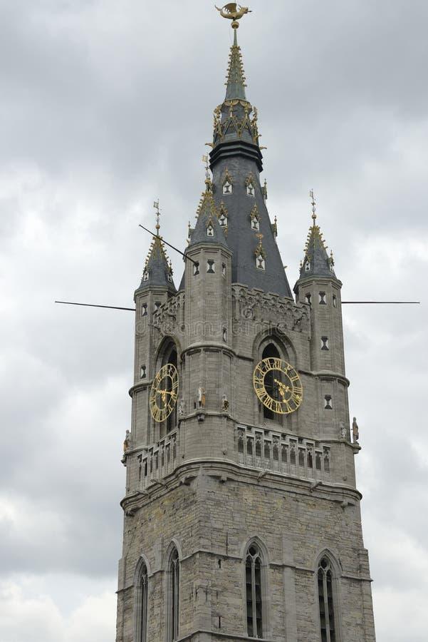 Belfrey Tower in Ghent stock photos