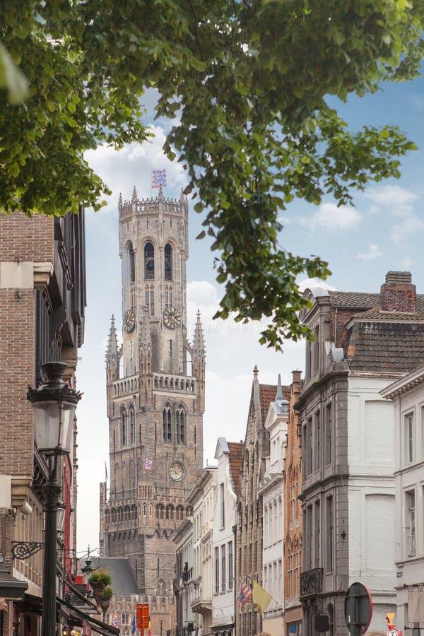 Belfry of Bruges in Belgium royalty free stock image