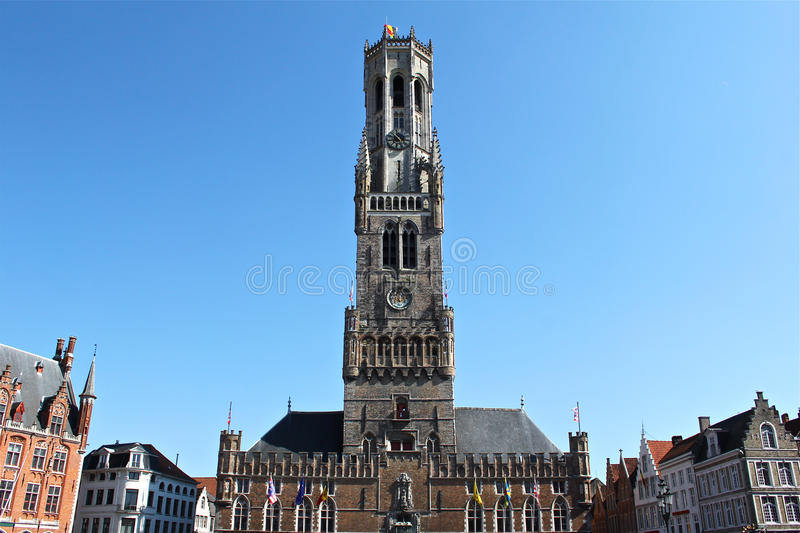 Belfry Of Bruges In Belgium Royalty Free Stock Images