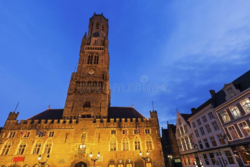 Belfry of Bruges stock photos
