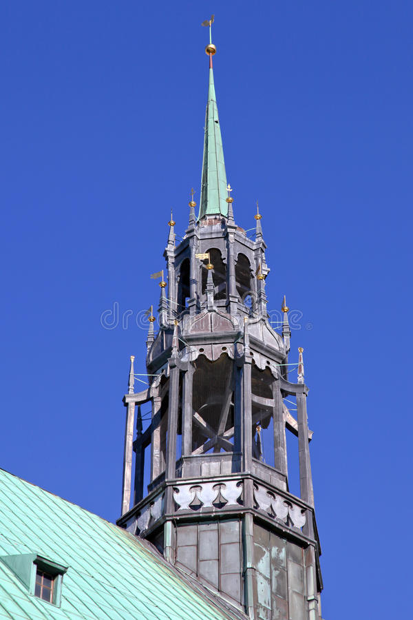 Download The Belfry Of The Church Jakobi In Luebeck Stock Image - Image: 28221561