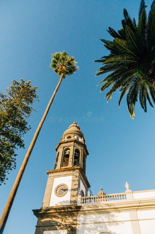 Belfry der Kathedrale von San Cristobal de La Laguna, Teneriffa lizenzfreie stockfotos