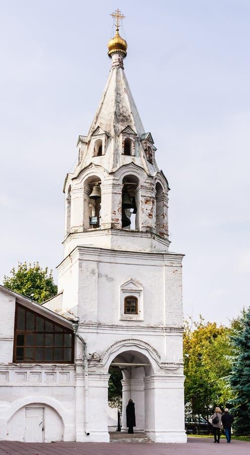 Belfry-Kirche unserer Dame von Kasan in Kolomenskoye, Moskau stockfotos