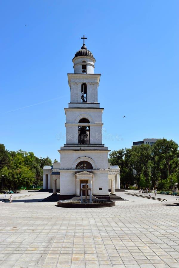 belfry kishinev moldova royalty-vrije stock foto