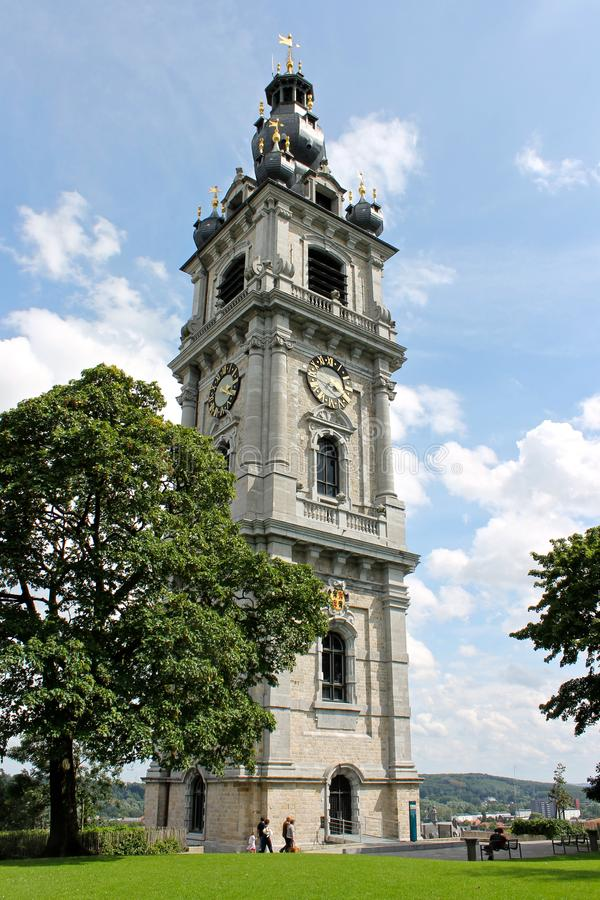 Belfry of Mons, Belgium. Mons, Belgium. The Belfry of Mons, the only baroque bell tower in Belgium and a World Heritage Site since 1999 stock photos