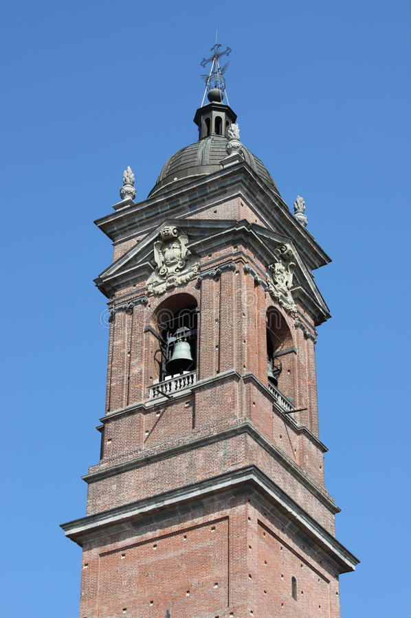 Belfry of Monza cathedral, Italy stock photos
