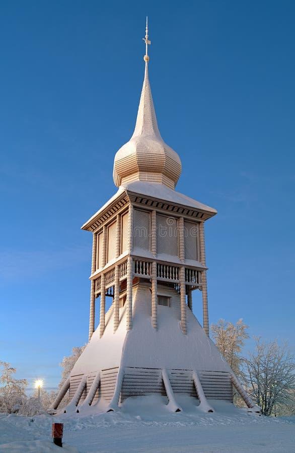Free Belfry Of The Kiruna Church In Winter, Sweden Royalty Free Stock Image - 28770316