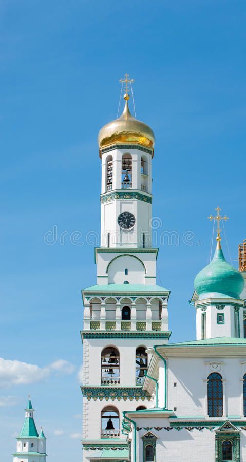 Belfry of the Resurrection New Jerusalem Monastery royalty free stock images
