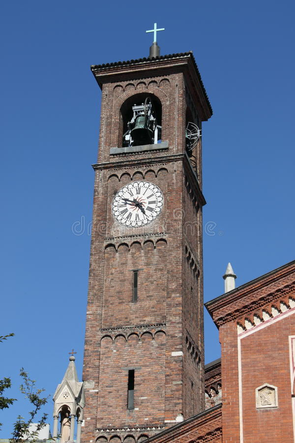 Belfry of Saint Eufemia church, Milan royalty free stock images