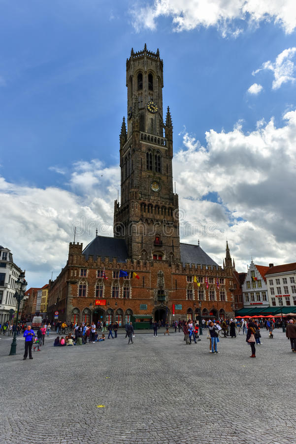 Belfry Tower - Bruges, Belgium royalty free stock photography