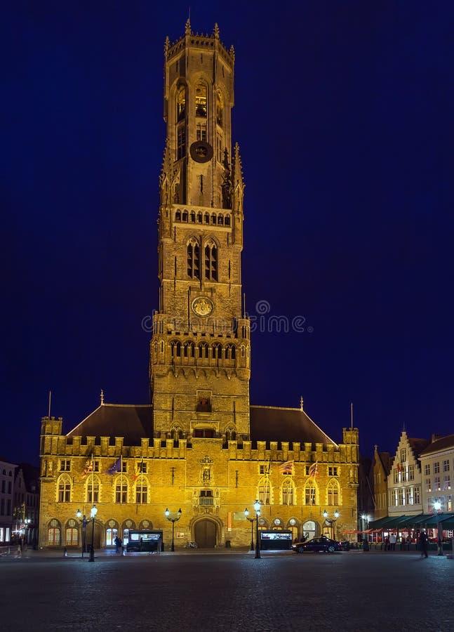 Belfry von Brügge, Belgien lizenzfreies stockbild