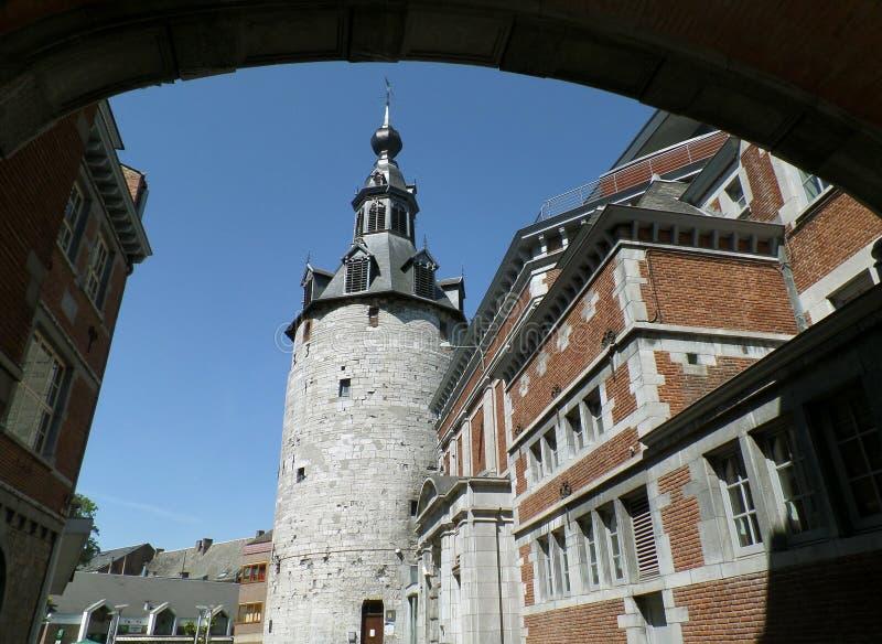 Belfry von Namur, eindrucksvoller mittelalterlicher Turm in Namur-Provinz, Belgien stockfotografie
