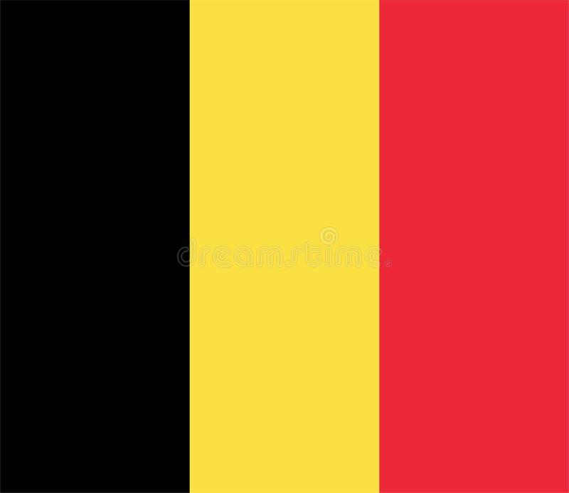 Belg flaga - Belgia royalty ilustracja