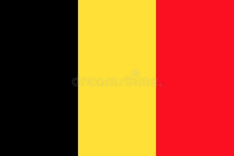 Belg flaga, płaski układ, ilustracja ilustracji