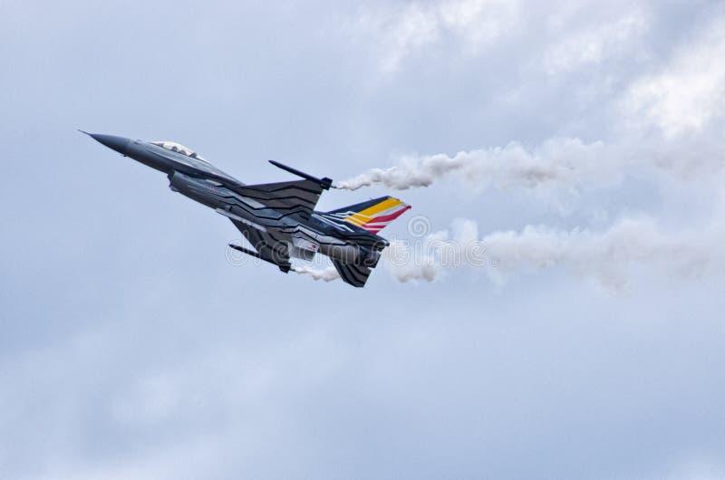 BelgareF-16 på Radom Airshow, Polen fotografering för bildbyråer
