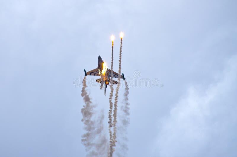 BelgareF-16 på Radom Airshow, Polen royaltyfri fotografi