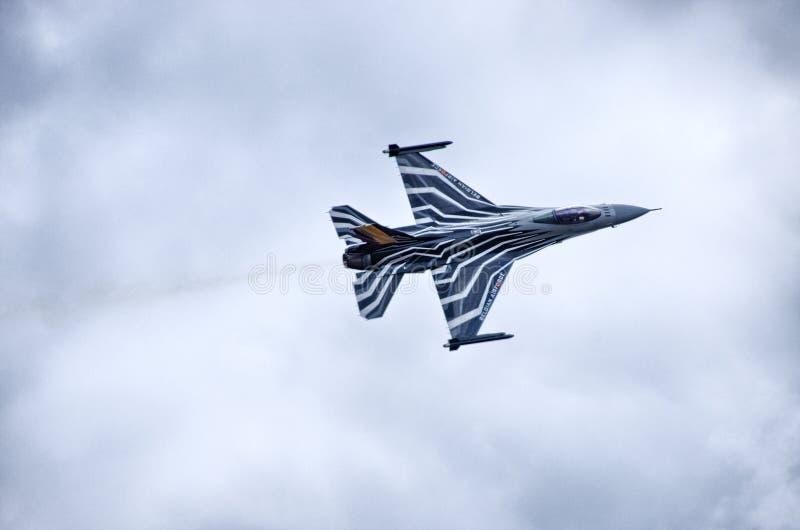 BelgareF-16 på Radom Airshow, Polen arkivfoton