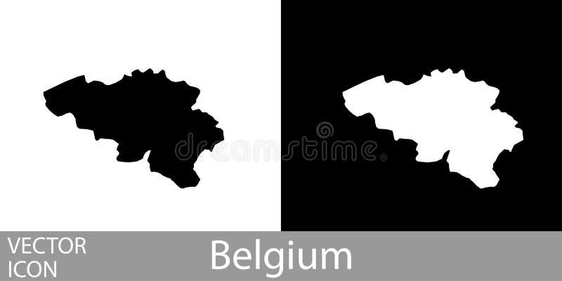 België gedetailleerde kaart royalty-vrije illustratie