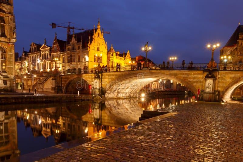 belgië Mijnheer bij nacht royalty-vrije stock fotografie