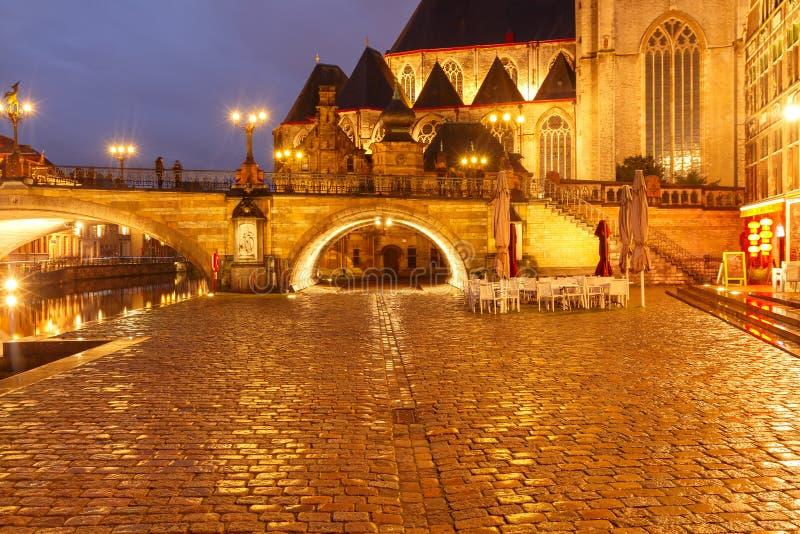 belgië Mijnheer bij nacht royalty-vrije stock afbeelding