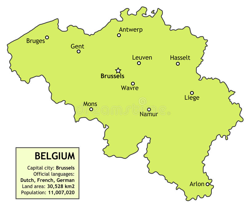 Belgia royalty ilustracja