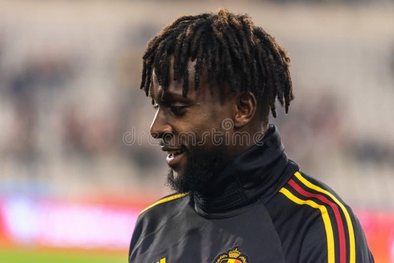 Belgia drużyny futbolowej krajowy strajkowicz Micha Batshuayi zdjęcie royalty free
