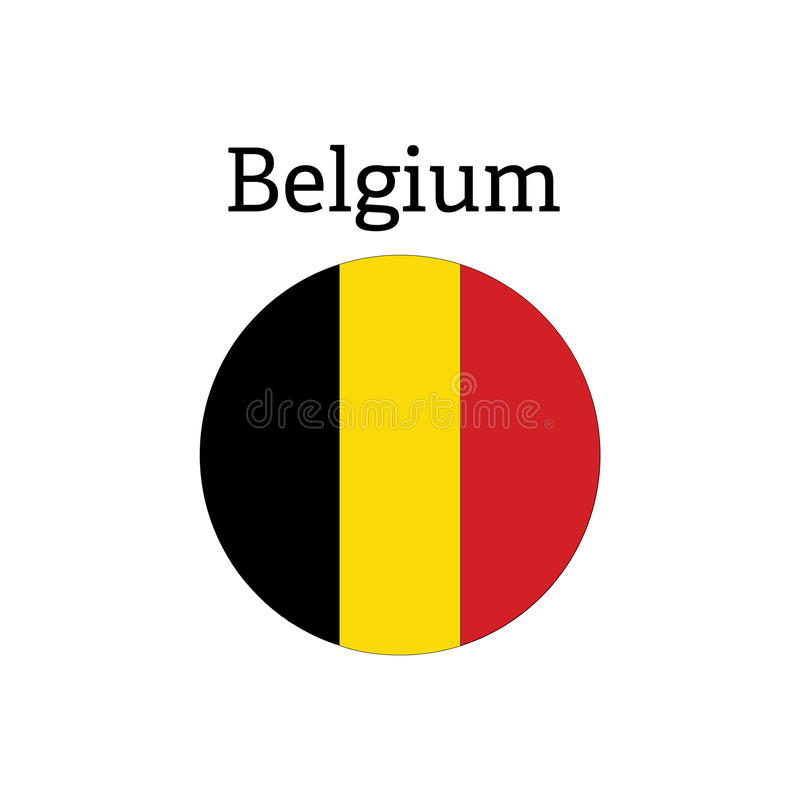 Belgia flaga ikona royalty ilustracja
