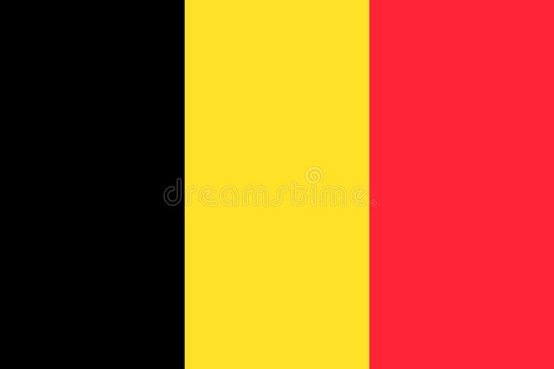 Belgia flaga pa?stowowa r?wnie? zwr?ci? corel ilustracji wektora brussels ilustracji