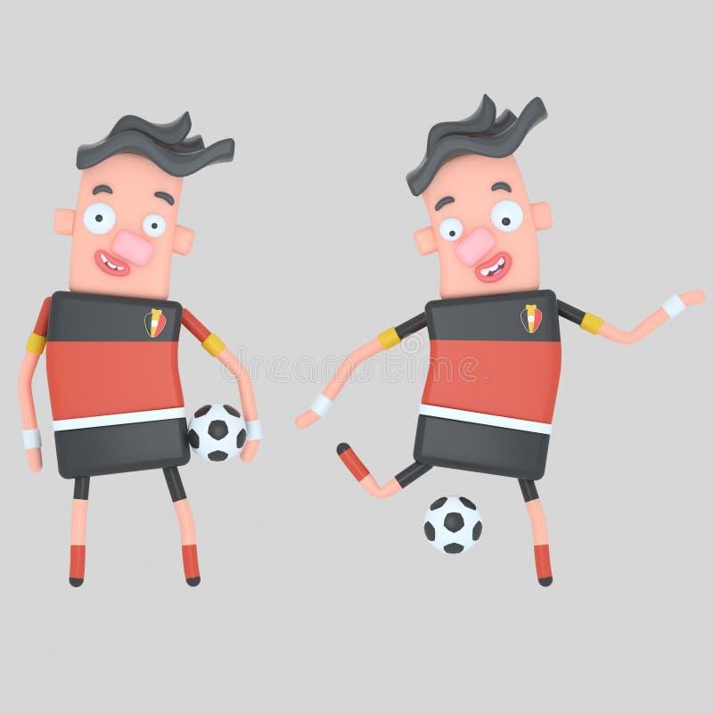 Belgia gracz piłki nożnej ilustracja 3 d ilustracji