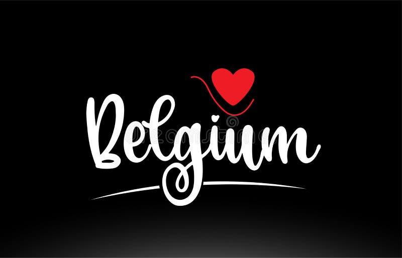 Belgia kraju teksta typografii logo ikony projekt na czarnym tle ilustracji