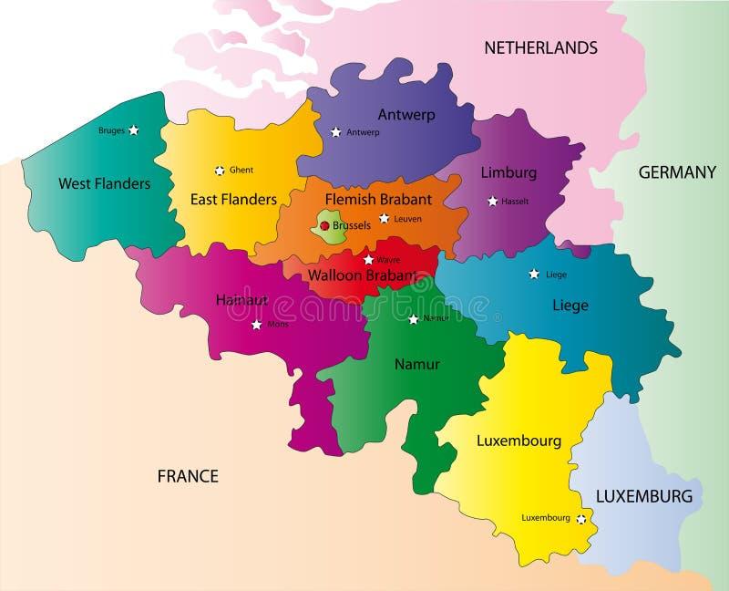 Belgia mapa ilustracja wektor