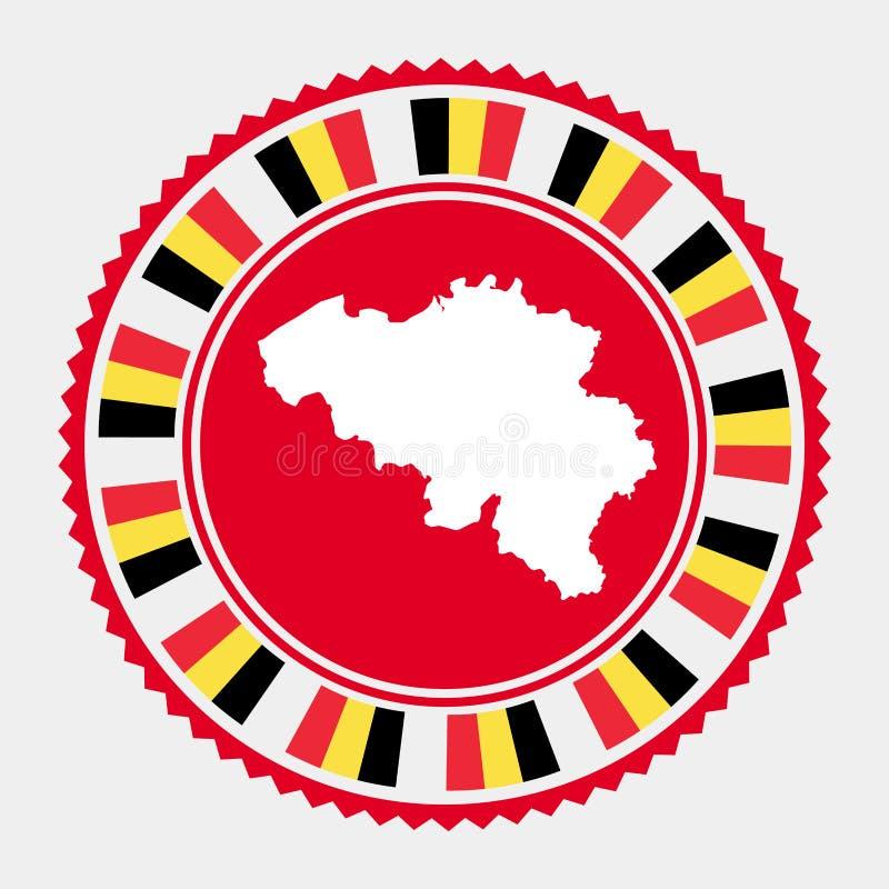Belgia mieszkania znaczek ilustracji
