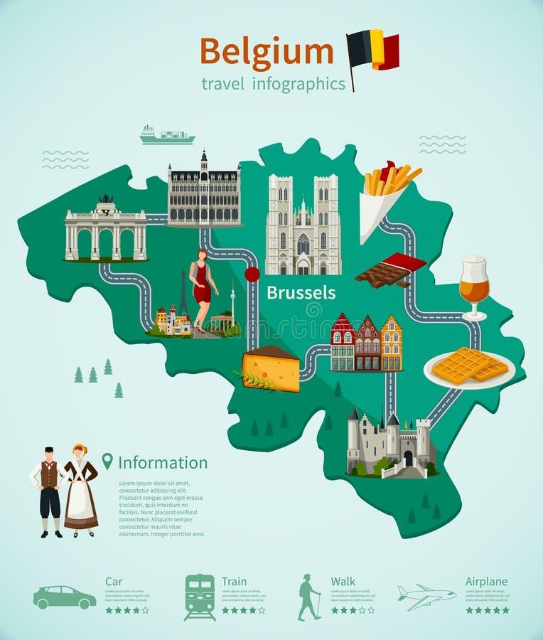 Belgia podróż Infographics ilustracja wektor