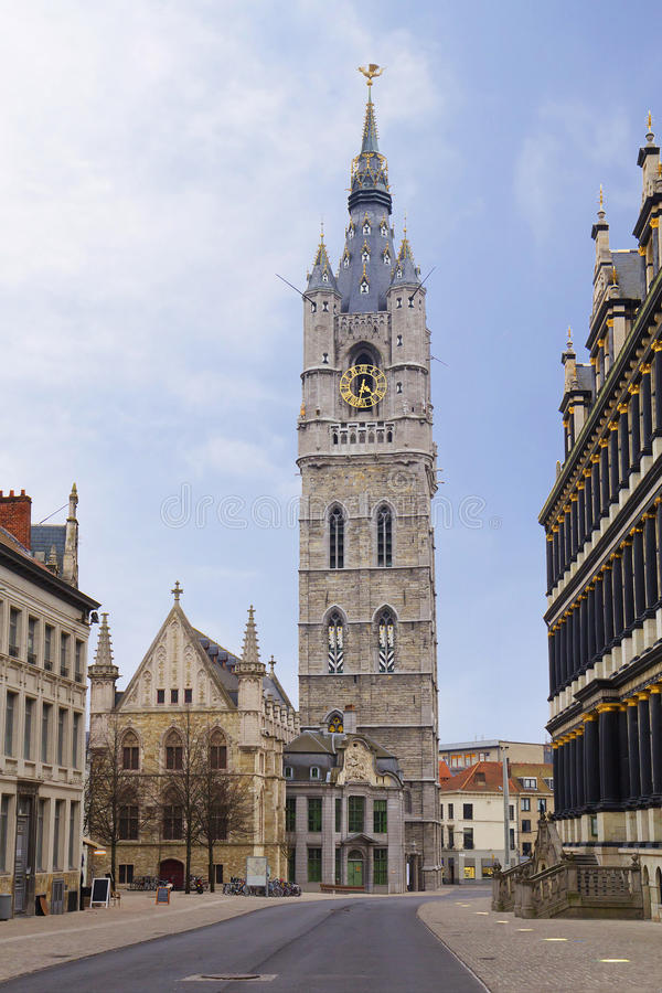 Belgia szacowny Dzwonnica Ghent dzwonnica obraz royalty free