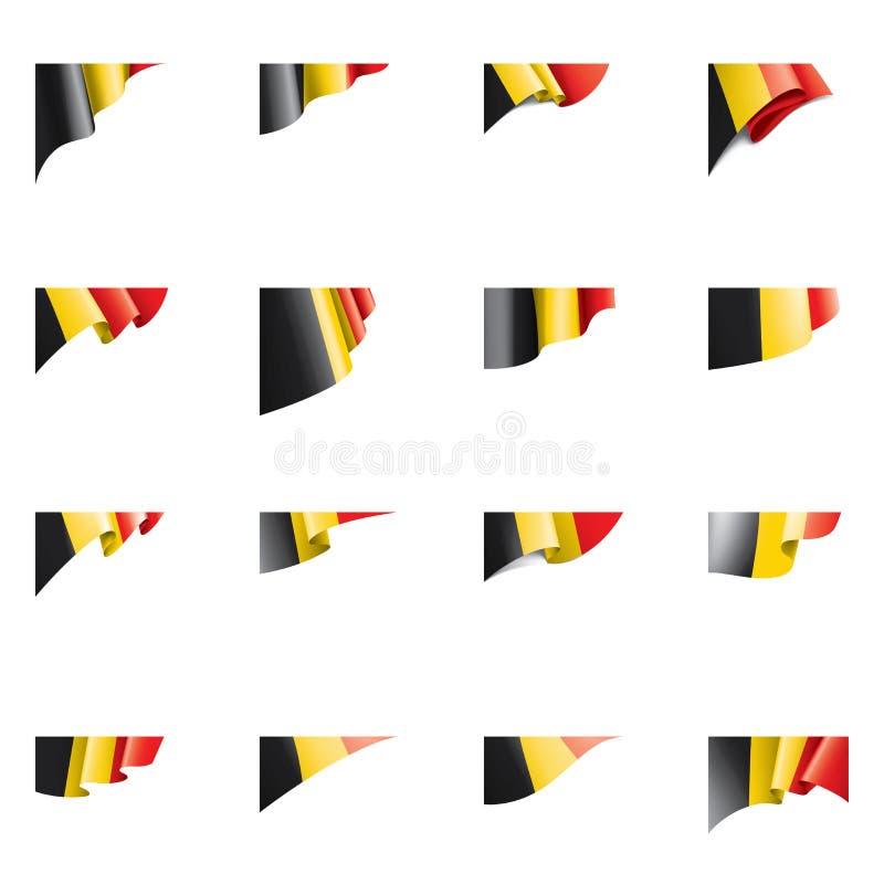 Belgia zaznacza, wektorowa ilustracja na białym tle ilustracja wektor