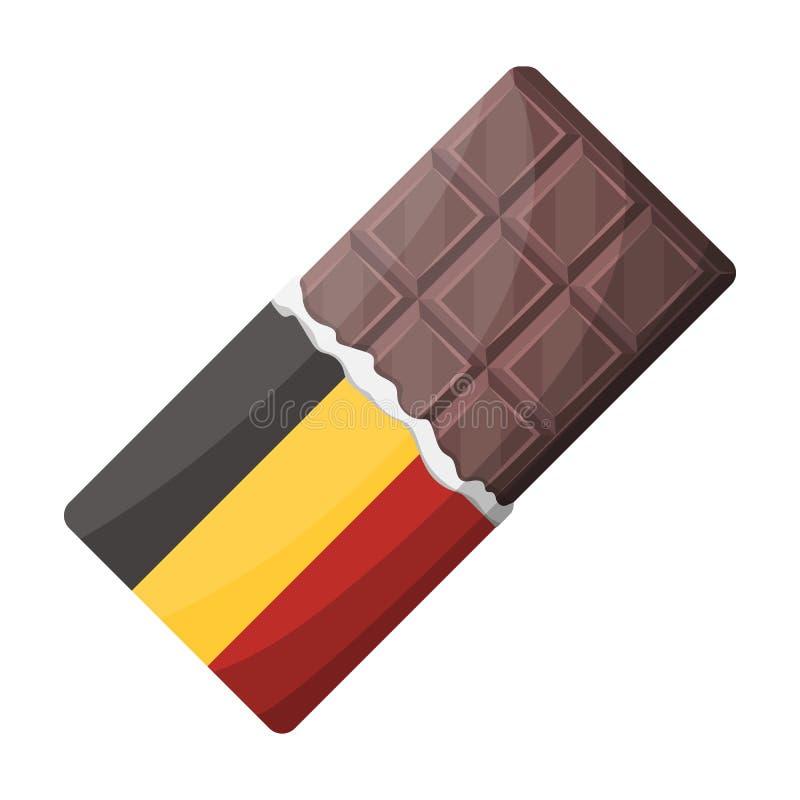 Belgian chocolate.The dark Belgian wolf. Belgium single icon in cartoon style vector symbol stock illustration. stock illustration